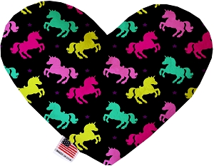 Confetti Unicorns 8 inch Heart Dog Toy